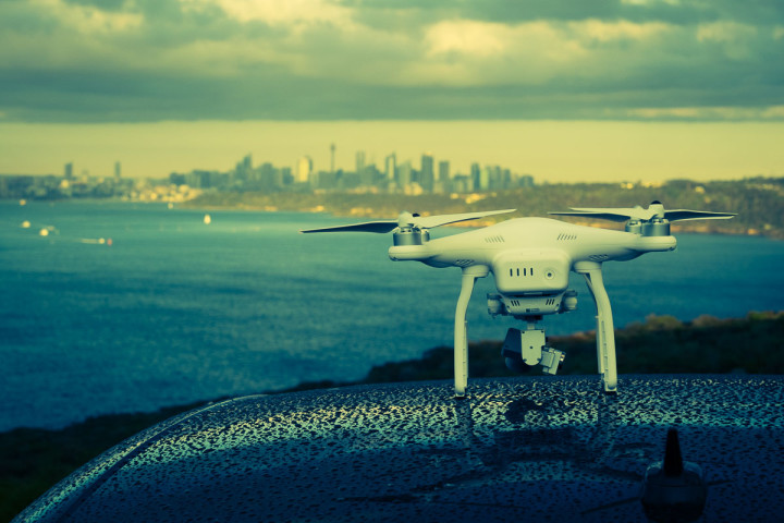 DJI Phantom 3 Overlooking Sydney Skyline